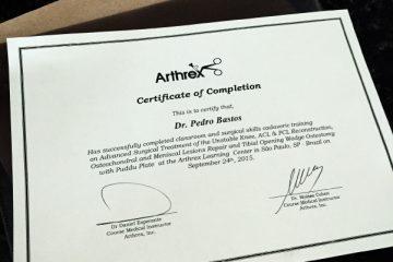 Arthrex Cadaver Lab em 2015 – São Paulo, SP – Certificado