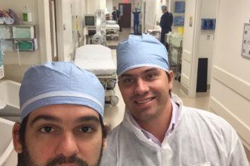 Foto do estágio no Miami Surgical Center em 2016 – Miami, Florida – Centro Cirurgico