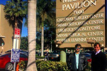 Foto do estágio no Miami Surgical Center em 2016 – Miami, Florida – Hospital
